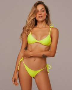 Top Bond Amarelo Neon