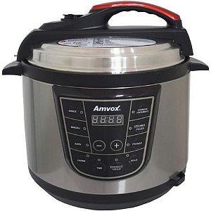 Panela de Pressão Elétrica Digital 5 Litros Timer Multifuncional Arroz Sopa Carne Amvox APS 005