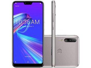 """Smartphone Asus ZenFone Max Shot ZB634KL Prata 64GB, Tela 6.2"""", Dual Chip, Câmera Traseira Tripla, Android 8.0, Processador Octa Core e 4GB RAM"""
