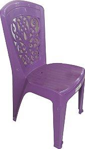 Cadeira Bistro Lara Lilás sem Braço-Inoplast