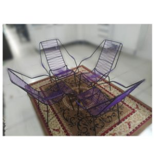 Jogo Cadeiras Fitil Lilás-Canoinha R.Gomes