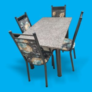 Mesa de 4 cadeiras Granito-Kaislianc