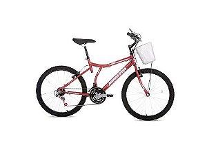 Bicicleta Atlantas Bristol Peak Aro 24 Vermelho Fosco-Livre