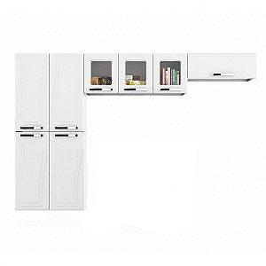Cozinha de Aço Paraty Glass AP3PV Branca Basculante-Colomarq