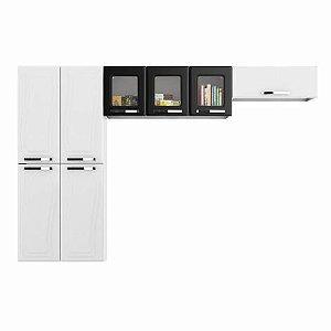 Cozinha Paraty Aço Paraty Glass  AP3PV Preto Basculante-Colomarq