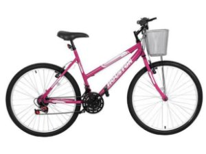 Bicicleta aro 26 Foxer Maori com Cesta Rosa Pink -Houston