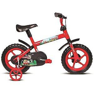 Bicicleta Aro 12 Masc Jack Vermelho c/ Ac Preto Verden Bike