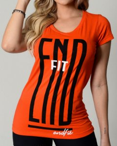 Camiseta Feminina End Fit - Hard Orange