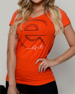 Camiseta Femina End Fit - Orange Dot