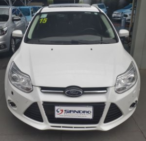 FORD   FOCUS  2.0 TITANIUM PLUS 16V FLEX 4P POWERSHIFT 2015  /  2015  Branco