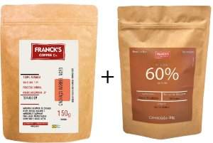 Kit Degustação - Choco 60% ao leite + Café Maturado em Barril de Amburana