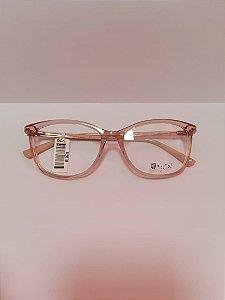 Armação Bulget acetato Rosé + lentes vision glass ar 1.67
