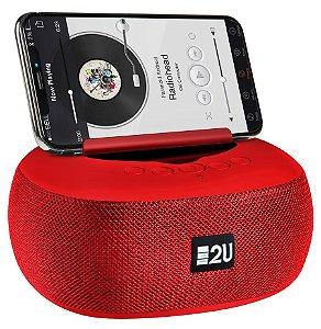 Caixa de Som E2U TWS Stereo Sound Vermelha
