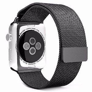 Pulseira Magnetica Apple Watch 42/44mm Preta