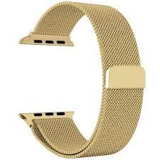 Pulseira Magnetica Apple Watch 38mm Dourada