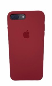 Case Silicone IP 7 / 8 Plus Vermelho