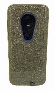 Case Tpu Moto G7 Glitter Dourado