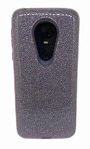 Case Tpu Moto G7 Glitter Rosa