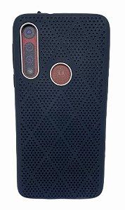Case Silicone Moto Macro  / Moto G8 Play Furos Preto