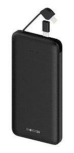 Bateria Portatil E2U 10000MAH Carbono Preta