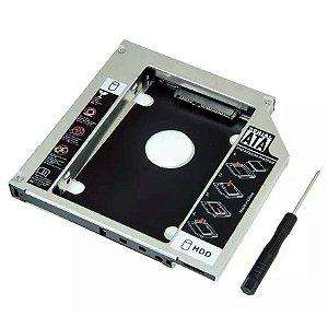 ADAPTADOR DVD PARA HD OU SSD NOTEBOOK DRIVE CADDY 12,7mm