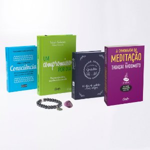 Kit Livros Tadashi Kadomoto - Grátis 1 Pulseira + Pedra de Ametista