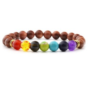 Pulseira 7 Chakras Pedra do Sol Yoga Pedra Natural
