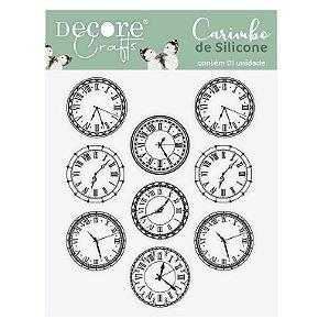 LANÇ / CARIMBO de SILICONE - Pattern Relógios