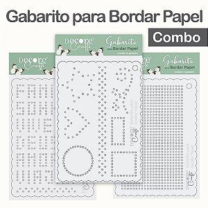 LANÇAMENTO | Gabarito para Bordar Papel - Combo com 3 gabaritos