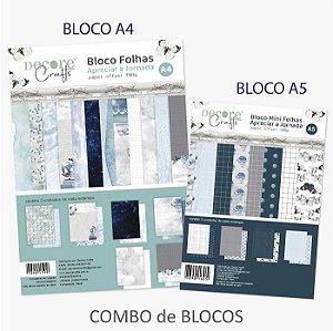 PROMO - Combo BLOCOS A4 e A5 - APRECIAR A JORNADA