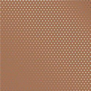 PAPEL KRAFT METALIZADO - POÁ PRATEADO- 180g - 30,5 x 30,5 cm