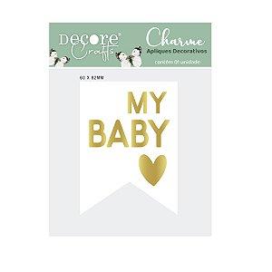 CHARME DE APLIQUE DUPLO - MY BABY - 60 X 82 X 4mm