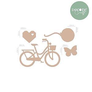 Aplique em MDF Bicicleta 2mm