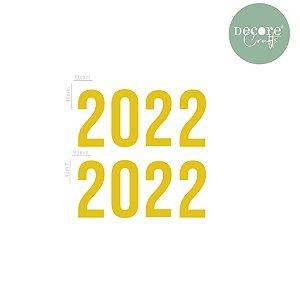 APLIQUE DECORATIVO AMARELO 2022 - 2MM