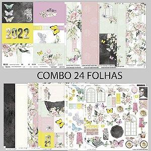 PROMO - COMBO UMA NOVA PRIMAVERA - 24 FOLHAS - 30,5 X 30,5 CM