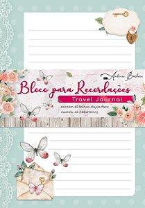 BLOCO PARA RECORDAÇÕES - TRAVEL JOURNAL