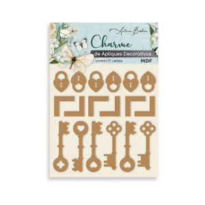 CHARME DE APLIQUES DECORATIVOS MIX - MDF