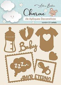 Charme de Apliques Decorativos - Amor Eterno Baby II (MDF)