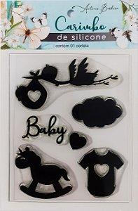 CARIMBO DE SILICONE BABY: 90 x 110MM