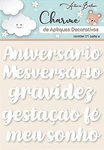 Charme de Apliques Decorativos - Amor Eterno Baby Branco