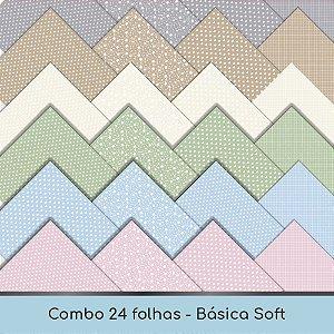 Combo Coleção Básica Soft - 24 folhas