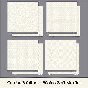 Combo Coleção Básica Soft - 8 Folhas - Marfim