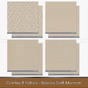 Combo Coleção Básica Soft - 8 Folhas - Marrom