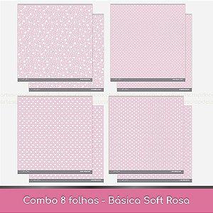 Combo Coleção Básica Soft - 8 Folhas - Rosa