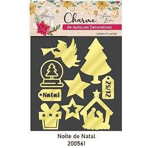 Charme de Apliques Decorativos - Noite de Natal - Acrílico