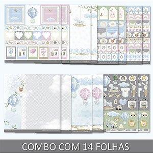 PROMO - Combo Bebê Menino - 14 folhas