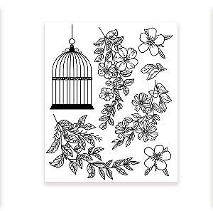 Carimbo Floral II - Encanto de Flores