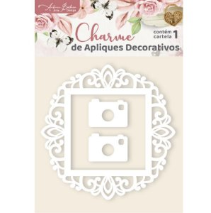 Apliques Acrílico Branco Doilly - Encanto de Flores