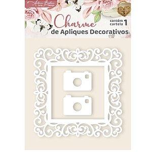 Apliques Acrílico Moldura e Máquina - Encanto de Flores