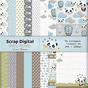 Scrap Digital Baby Panda by Vinicius Barbosa | A4 - 16 folhas| JPEG - 300dpi